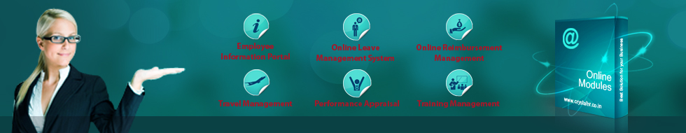 Online Modules for HR processes from Crystal HR & Security Solutions (P) Ltd.